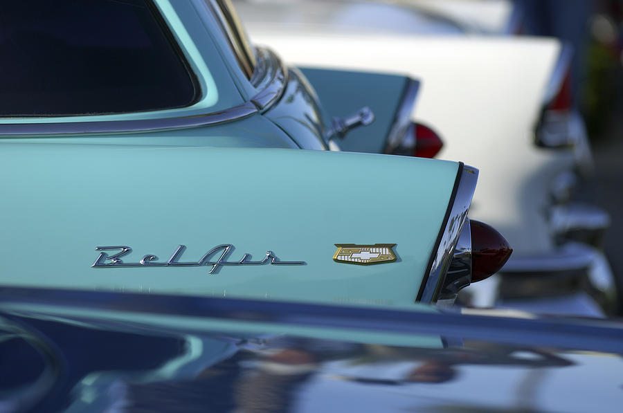 Car Photograph - 1956 Chevrolet Belair Nomad Rear End by Jill Reger