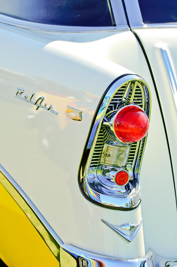 Classic Cars Photograph - 1956 Chevrolet Beliar Nomad Taillight Emblem by Jill Reger