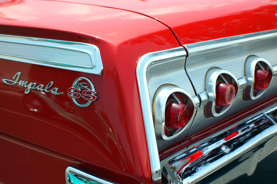 Classic Cars Photograph - 1956 Chevrolet Impala Ss Taillights 2 by DJ Monteleone