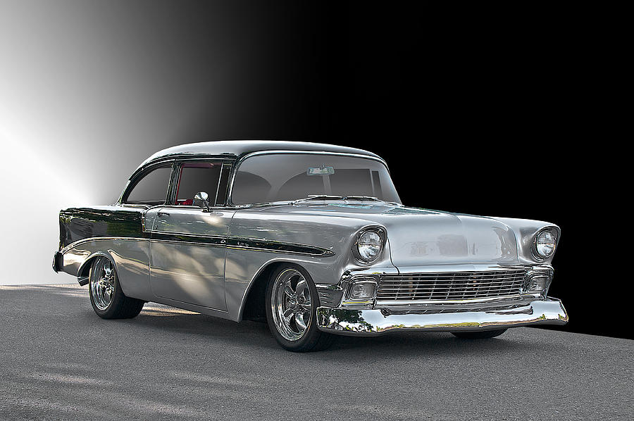 Auto Photograph - 1956 Chevrolet post Coupe by Dave Koontz