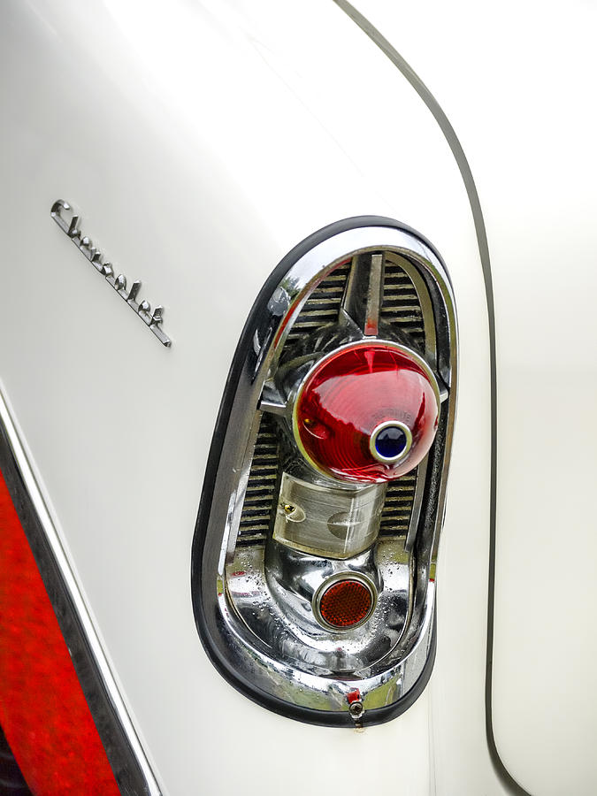 1956 Photograph - 1956 Chevy Taillight by Carol Leigh