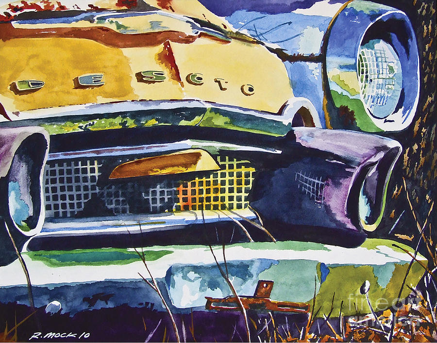 1956 Desoto Painting - 1956 Desoto Abstract by Rick Mock