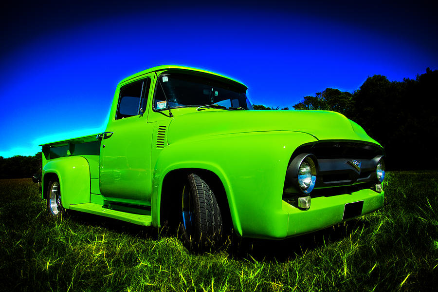 1956 Ford Photograph - 1956 Ford F-100 Pickup Truck by motography aka Phil Clark