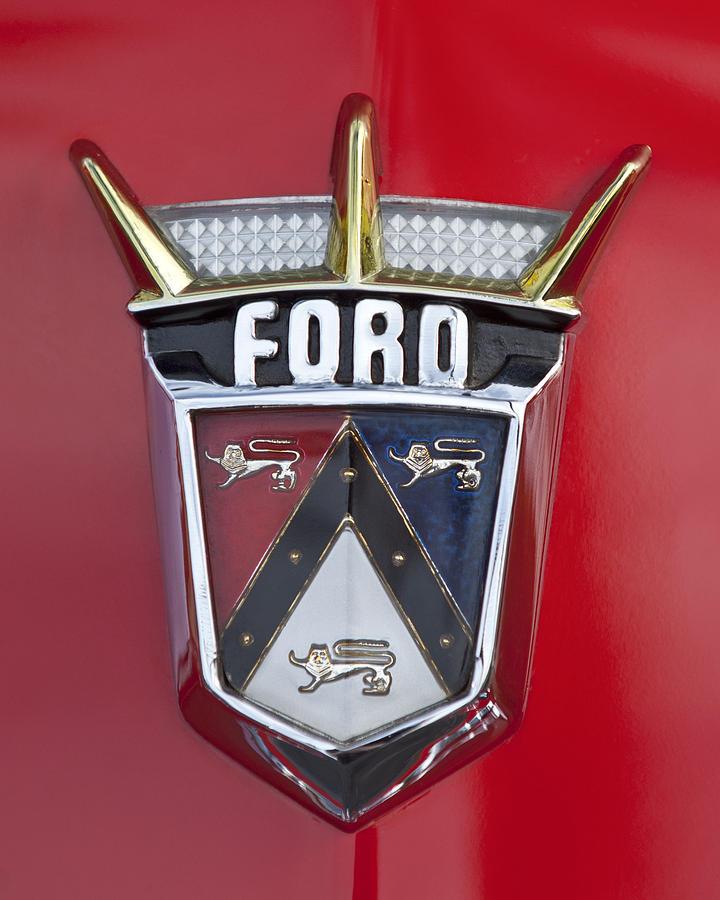 1956 Ford Fairlane Photograph - 1956 Ford Fairlane Emblem by Jill Reger