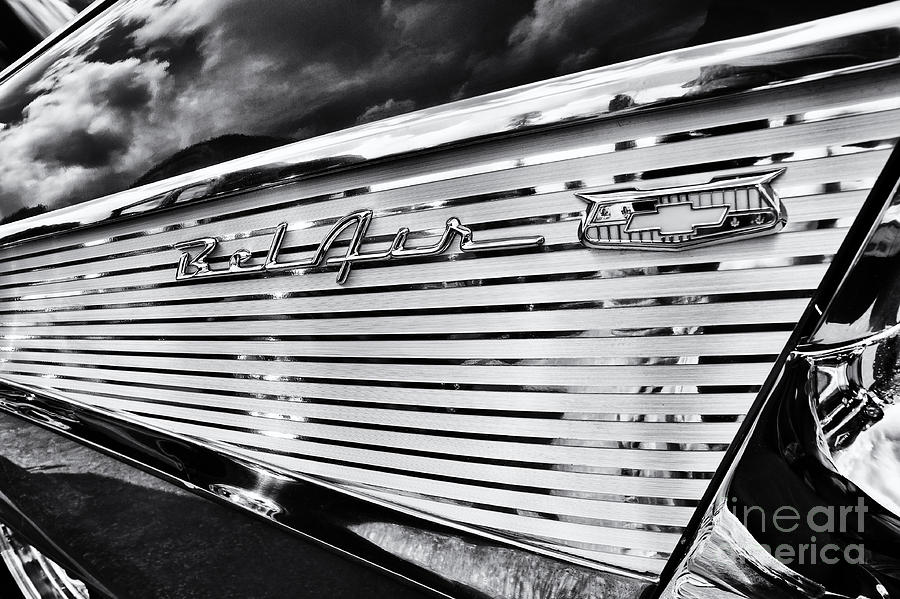 Chevrolet Photograph - 1957 Chevrolet Bel Air Monochrome by Tim Gainey