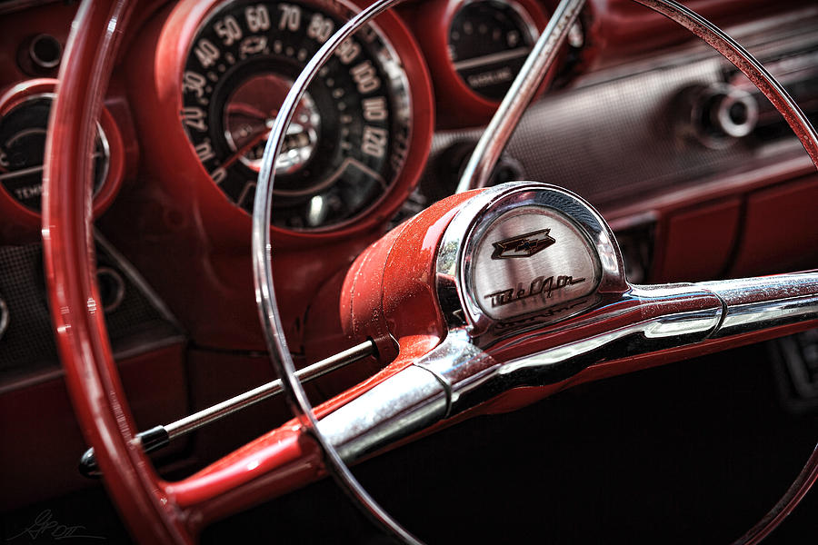1957 Chevrolet Bel Air Steering Wheel Photograph By Gordon
