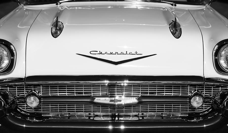 1957 Chevrolet Belair Hood Ornament Emblem Photograph By Jill