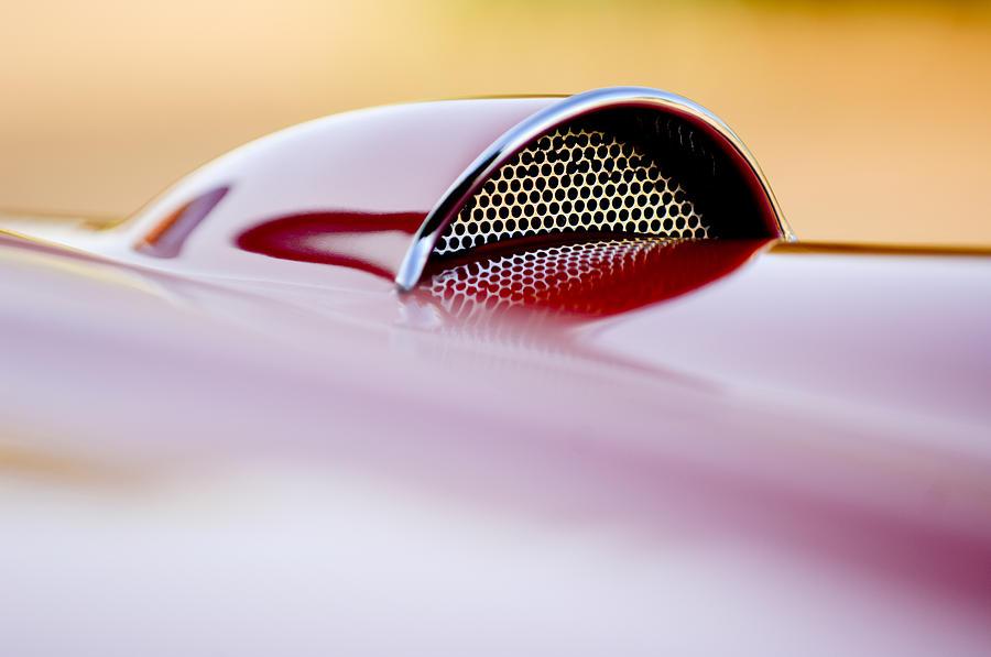 Car Photograph - 1957 Chevrolet Corvette Convertible Scoop by Jill Reger