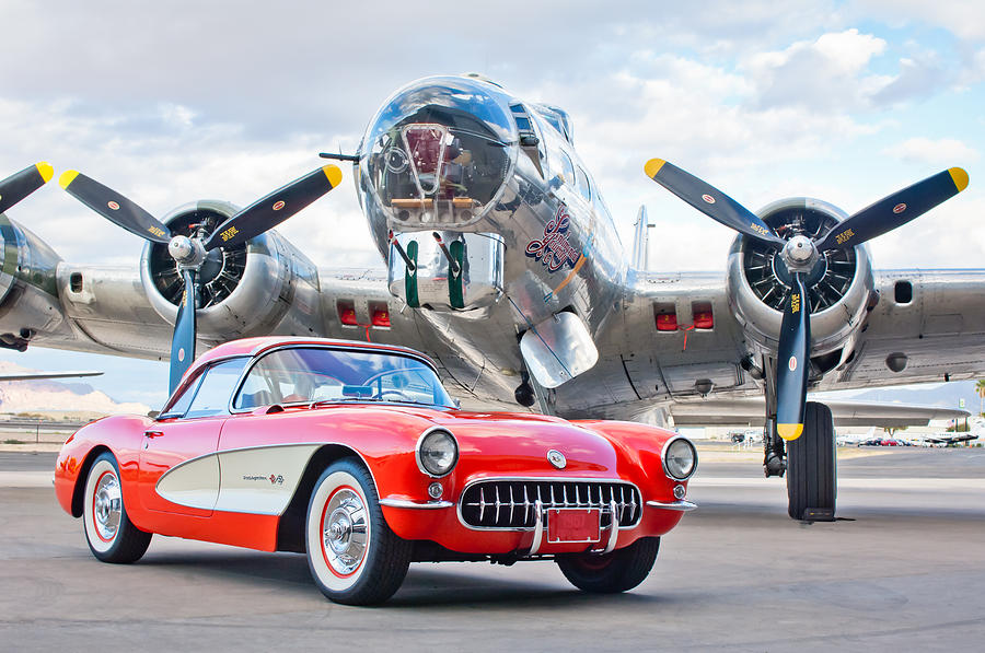 1957 Corvette Photograph - 1957 Chevrolet Corvette by Jill Reger