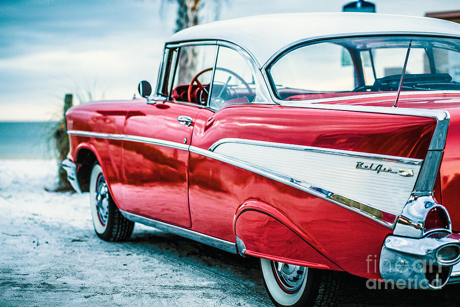1957 Photograph - 1957 Chevy Bel Air by Edward Fielding