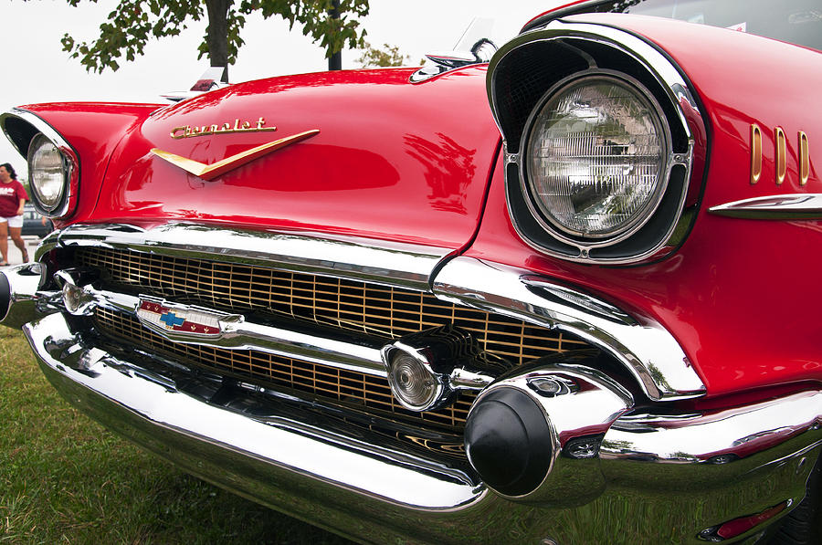 1957 Chevy Bel Air Front End Photograph By Glenn Gordon