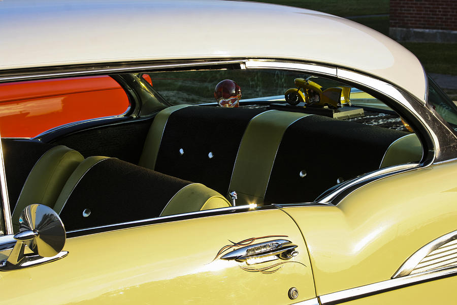 1957 Chevy Bel Air Yellow Interior Photograph By Dennis Coates