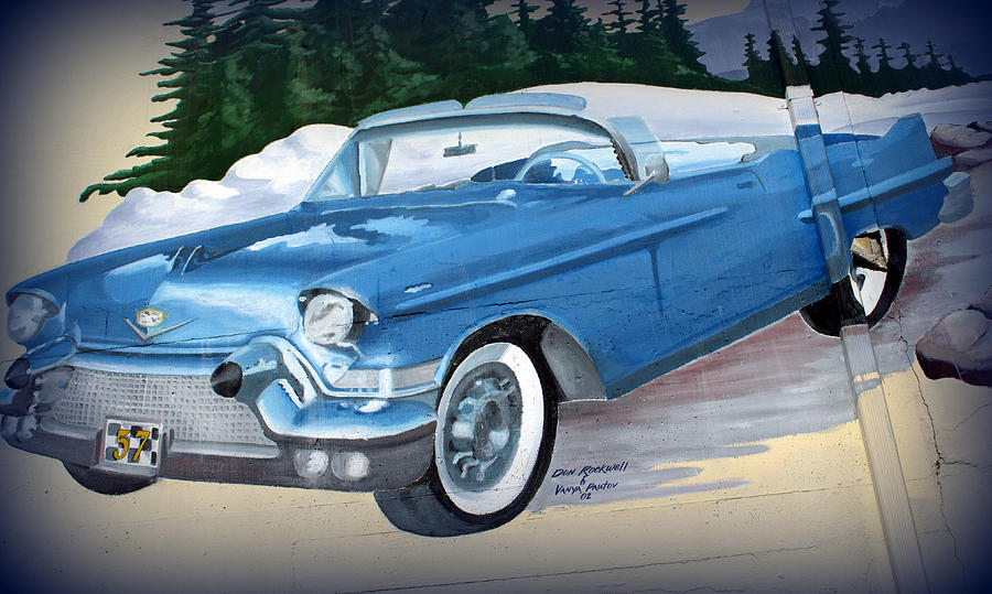 Old Car Photograph - 1957 Chevy Convertible by Tikvahs Hope