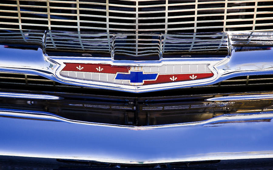 1957 Chevy Emblem Photograph By Rich Franco