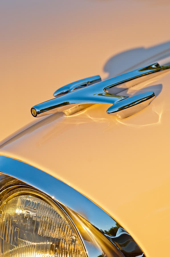 Olds Photograph - 1957 Oldsmobile Hood Ornament 6 by Jill Reger