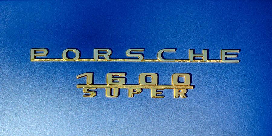 Sports Car Photograph - 1957 Porsche 1600 Super Emblem -0562c by Jill Reger