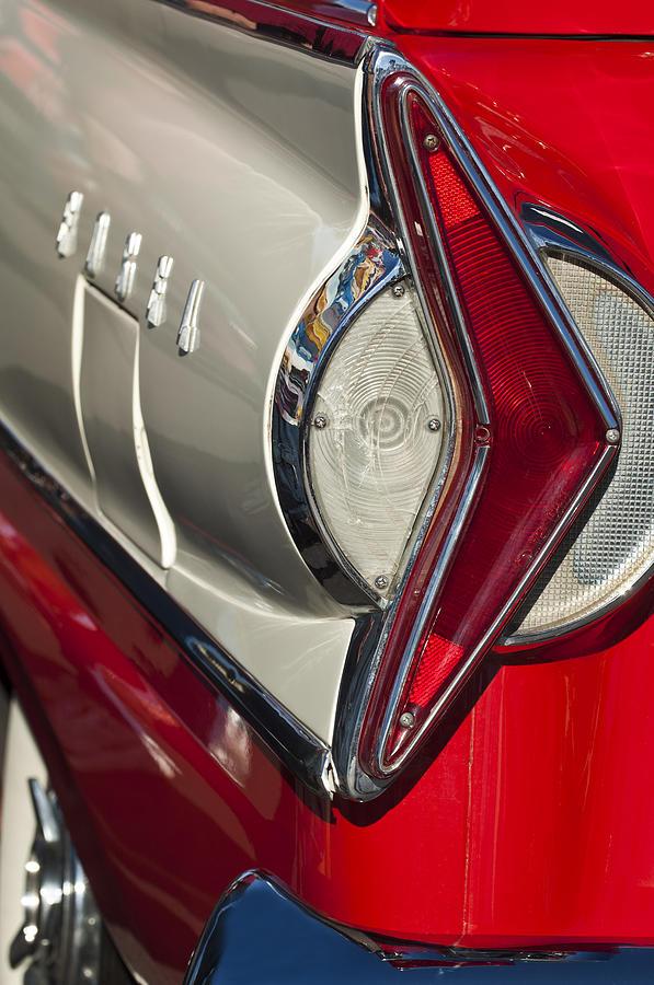 1958 Edsel Wagon Photograph - 1958 Edsel Wagon Tail Light by Jill Reger