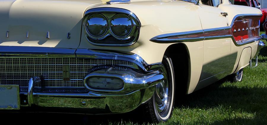 Car Photograph - 1958 Pontiac Strato Chief by Davandra Cribbie