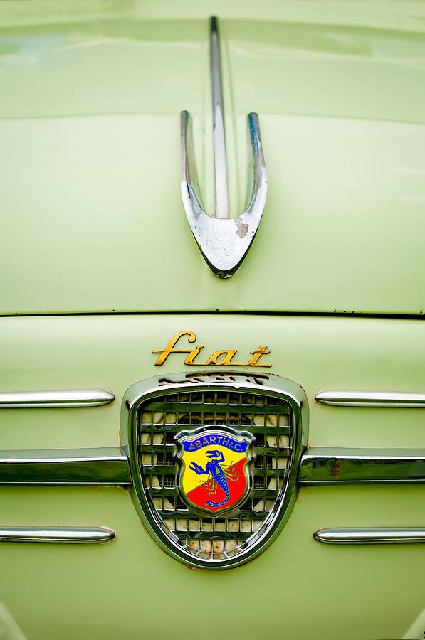 Emblems Photograph - 1959 Fiat 600 Derivazione 750 Abarth Hood Ornament by Jill Reger