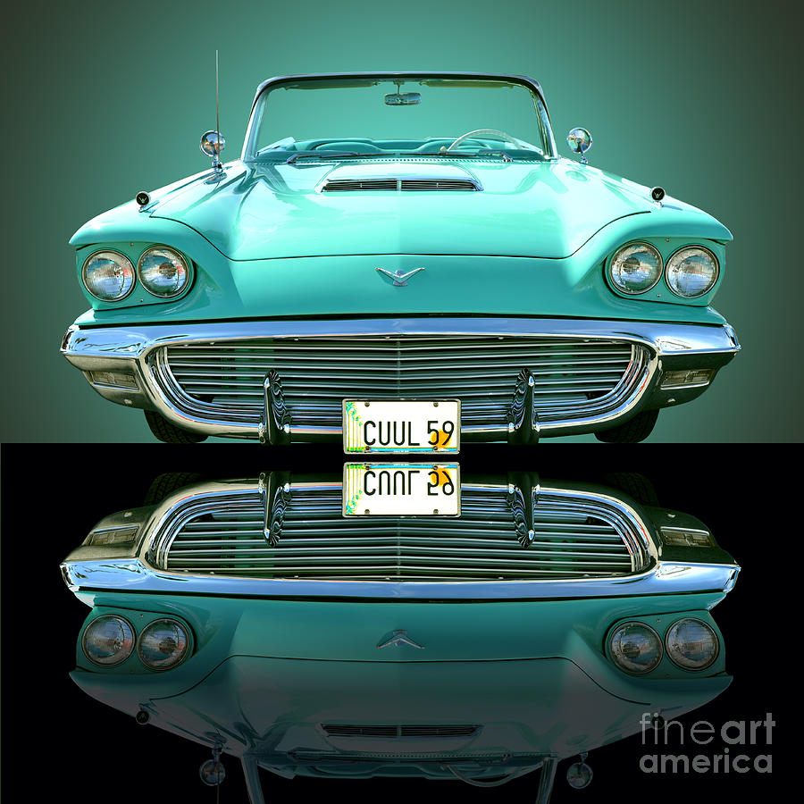 Auto Photograph - 1959 Ford T Bird by Jim Carrell