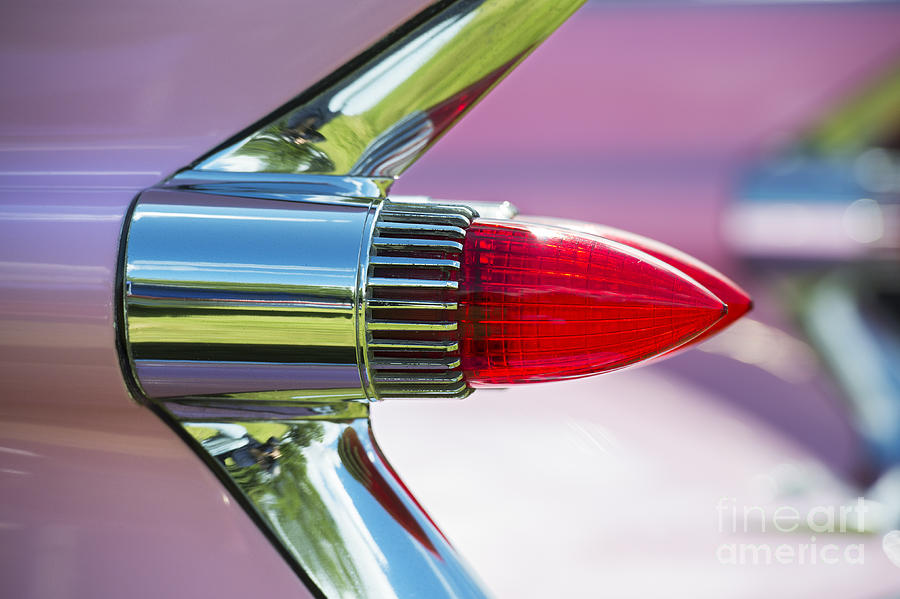 Cadillacs Photograph - 1959 Pink Cadillac by Tim Gainey