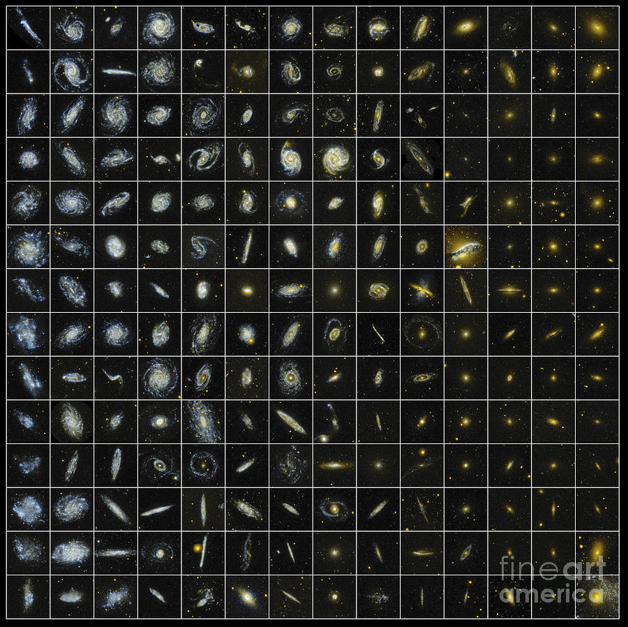 Ultraviolet Photograph - 196 Galaxies by Science Source
