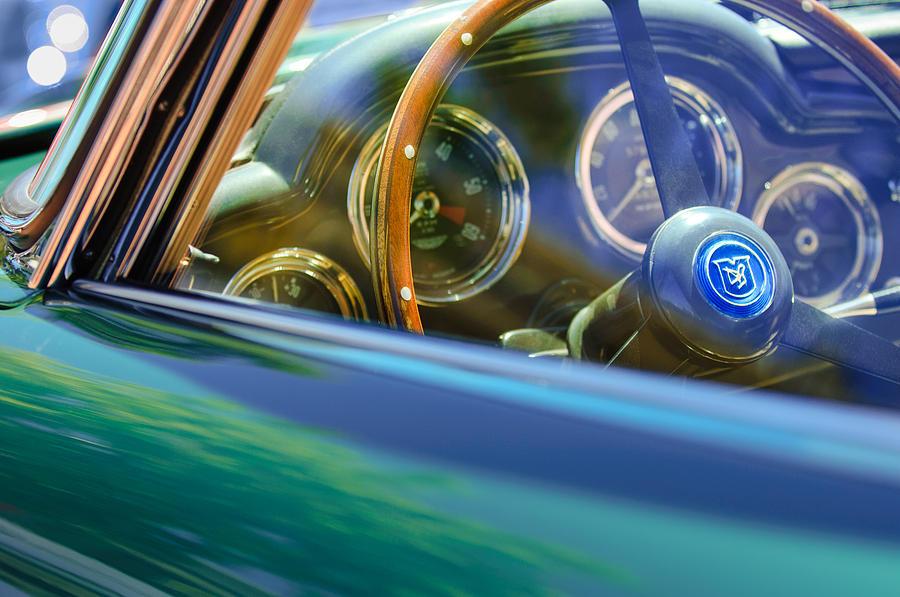 1960 Aston Martin Db4 Series Ii Steering Wheel Photograph - 1960 Aston Martin Db4 Series II Steering Wheel by Jill Reger