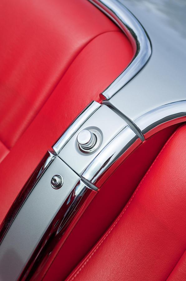 1960 Chevrolet Corvette Compartment Photograph - 1960 Chevrolet Corvette Compartment by Jill Reger