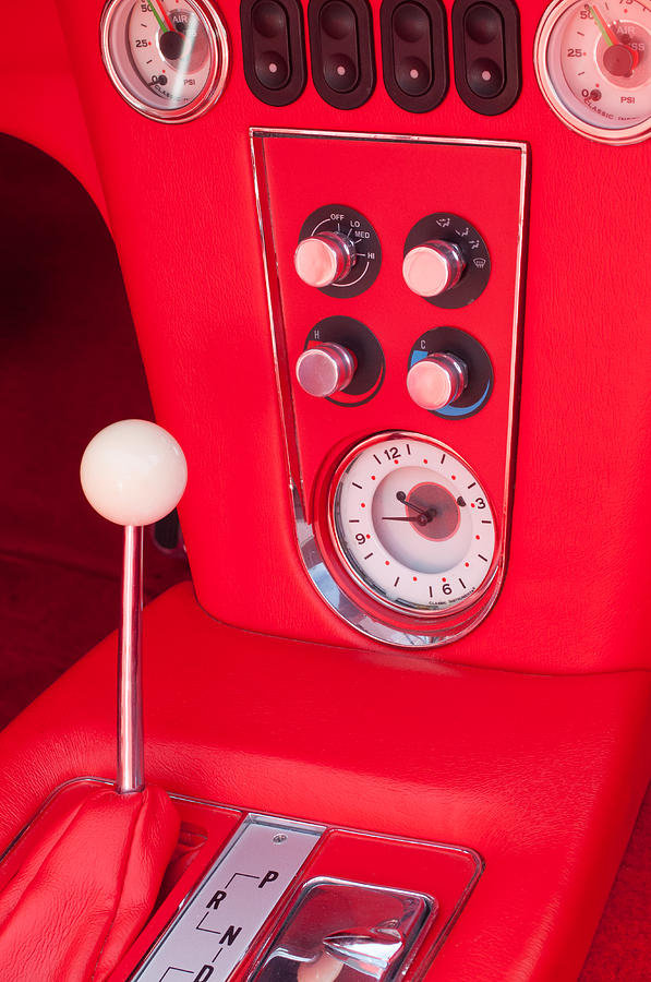 1960 Corvette Photograph - 1960 Chevrolet Corvette Control Panel by Jill Reger