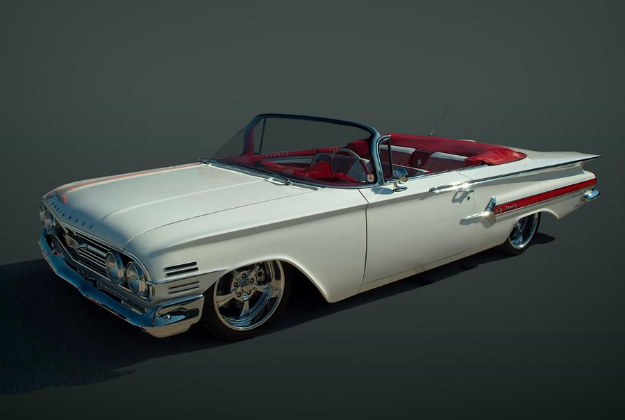 1960 Chevrolet Impala Convertible Photograph By Tim Mccullough