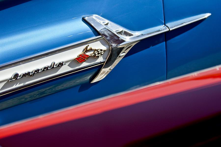 1960 Chevrolet Impala Emblem Photograph - 1960 Chevrolet Impala Emblem 7 by Jill Reger