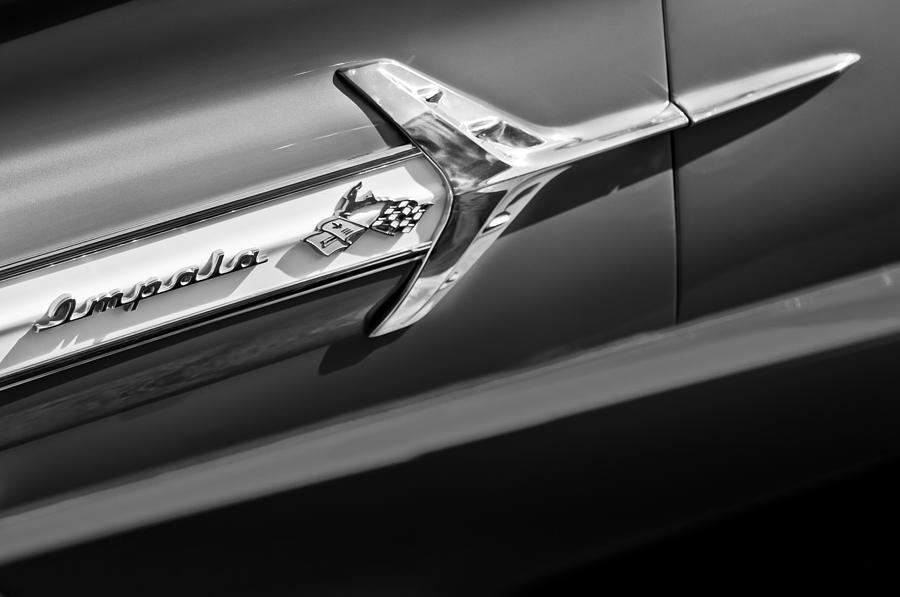 1960 Chevrolet Impala Side Emblem Photograph - 1960 Chevrolet Impala Side Emblem by Jill Reger