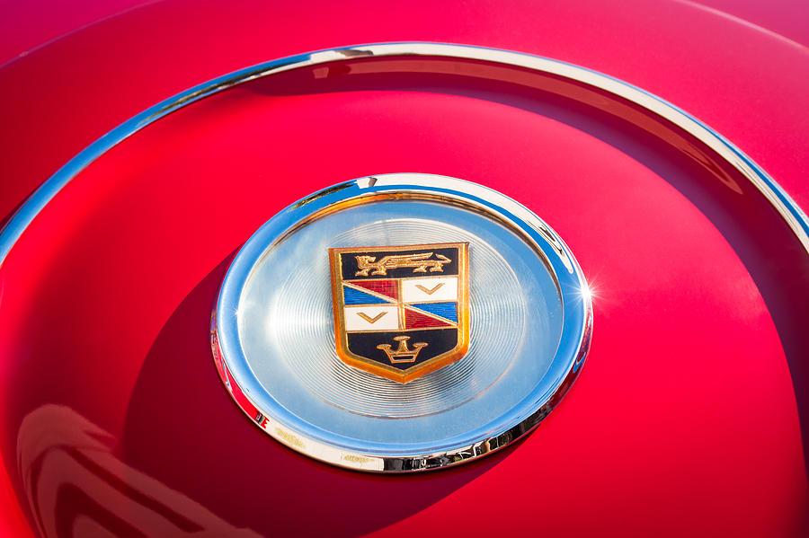 1960 Imperial Emblem Photograph - 1960 Chrysler Imperial Crown Convertible Emblem by Jill Reger