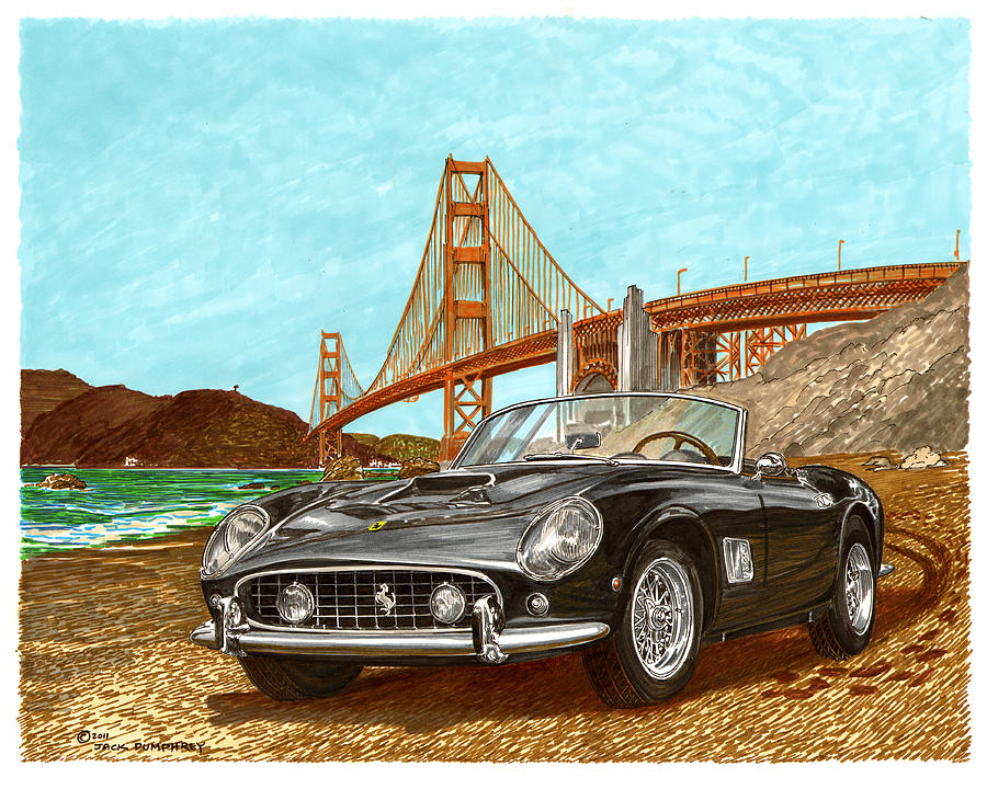 The Other Painting - 1960 Ferrari 250 California G T by Jack Pumphrey