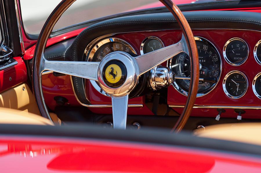 1960 Ferrari 250 Gt Cabriolet Pininfarina Series Ii Steering Wheel Emblem Photograph - 1960 Ferrari 250 Gt Cabriolet Pininfarina Series II Steering Wheel Emblem by Jill Reger