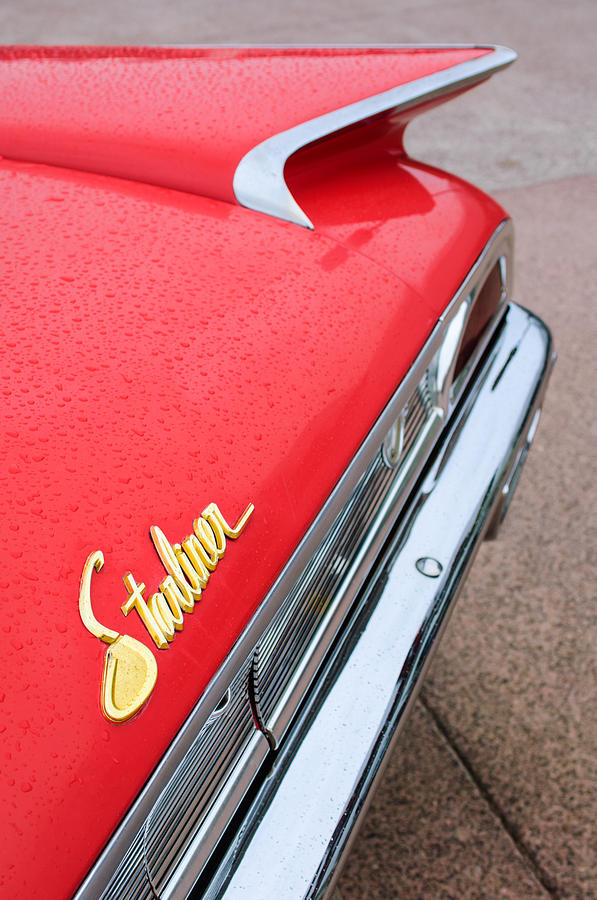 Tail Light Photograph - 1960 Ford Galaxie Starliner Taillight Emblem by Jill Reger