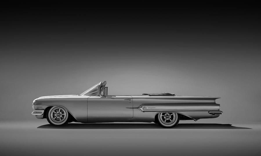 Car Digital Art - 1960 Impala Convertible Coupe by Douglas Pittman