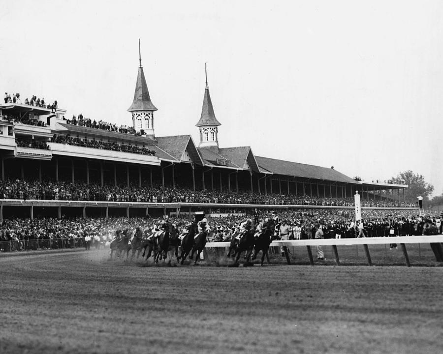 Classic Photograph - 1960 Kentucky Derby Horse Racing Vintage by Retro Images Archive