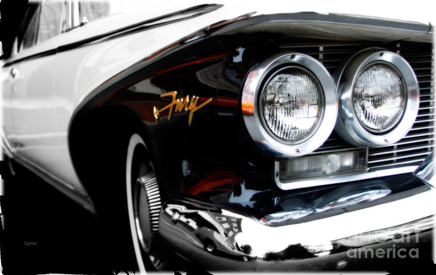Car Photograph - 1960 Plymouth Fury  by Steven Digman