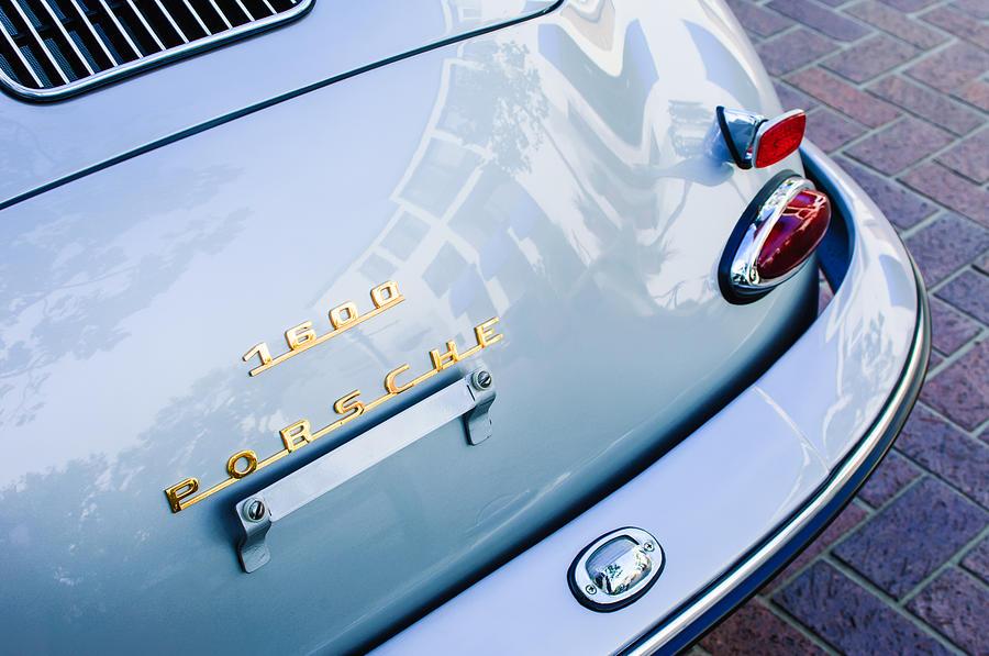 1960 Porsche 356 B 1600 Super Roadster Rear Emblem - Taillight Photograph - 1960 Porsche 356 B 1600 Super Roadster Rear Emblem - Taillight by Jill Reger