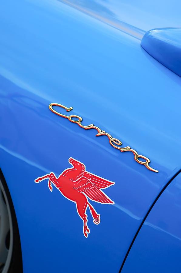 Carrera Photograph - 1960 Volkswagen Vw Porsche 356 Carrera Gs Gt Replica Emblem by Jill Reger