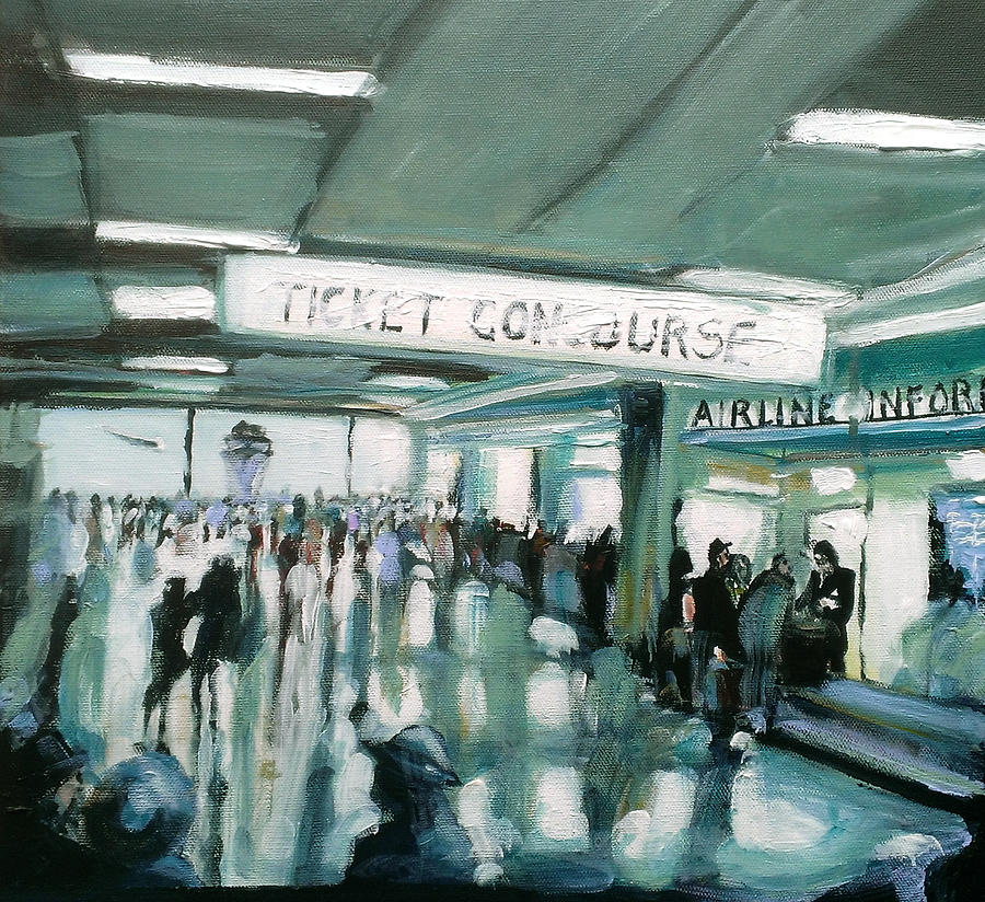 Airport Painting - 1960s Airport by Paul Mitchell
