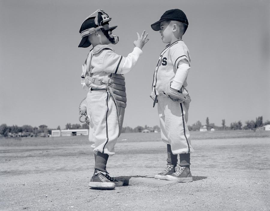 Horizontal Photograph - 1960s Boy Little Leaguer Pitcher by Vintage Images