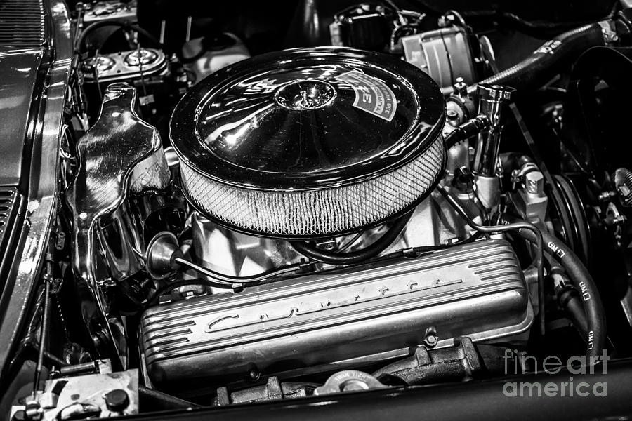 1960s Corvette 327 350hp Engine Photograph