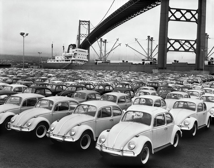 Horizontal Photograph - 1960s Loading Dock With Parked by Vintage Images