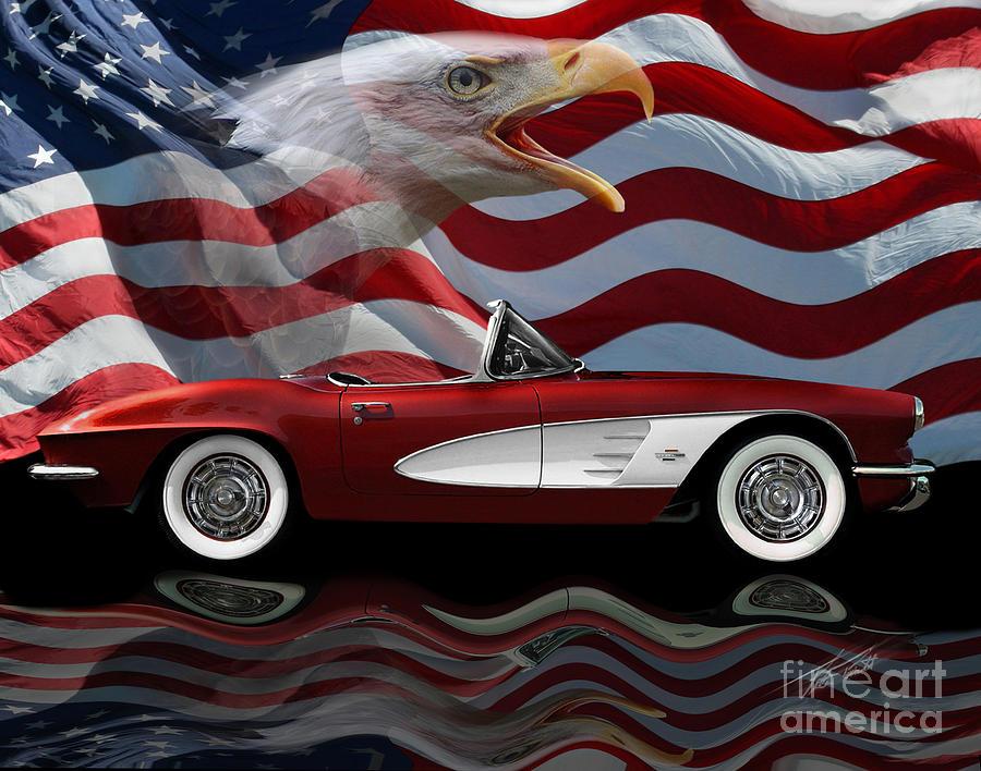 1961 Corvette Photograph - 1961 Corvette Tribute by Peter Piatt