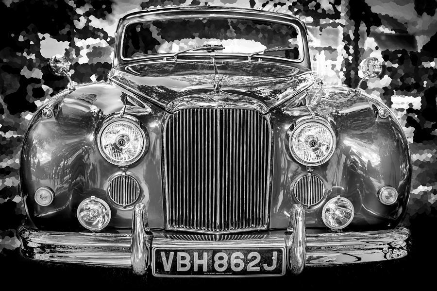 1961 Jaguar Mark Ix Saloon Bw Photograph by Rich Franco