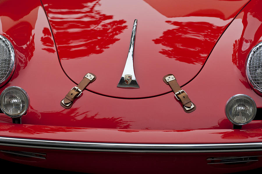 1961 Porsche 356 B Roadster Photograph - 1961 Porsche 356 B Roadster Hood Emblem by Jill Reger
