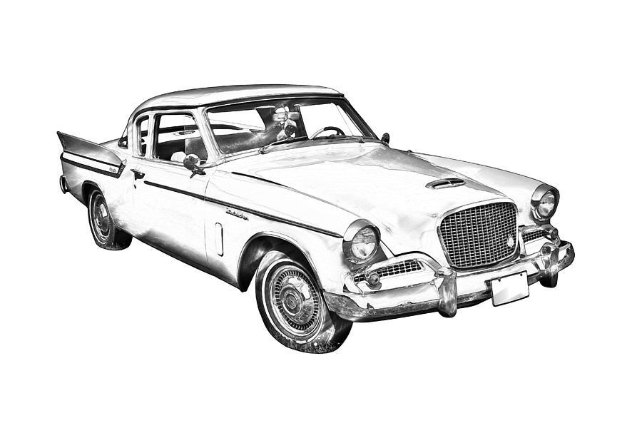 1961 Studebaker Hawk Coupe Illustration