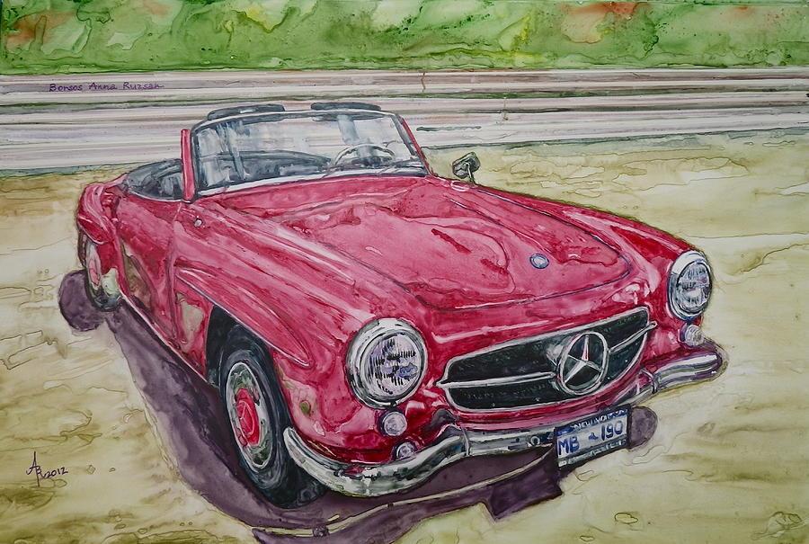 1962 Mercedes Benz 190sl Painting By Anna Ruzsan